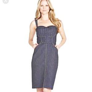 Jessica Simpson Denim Dress sexy sweetheart